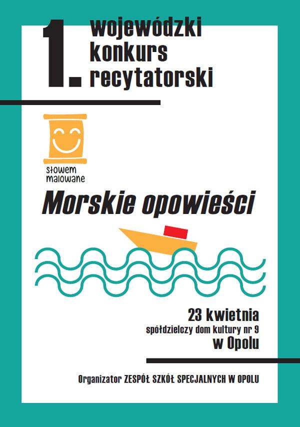 Plaka konkursu Słowem Malowane