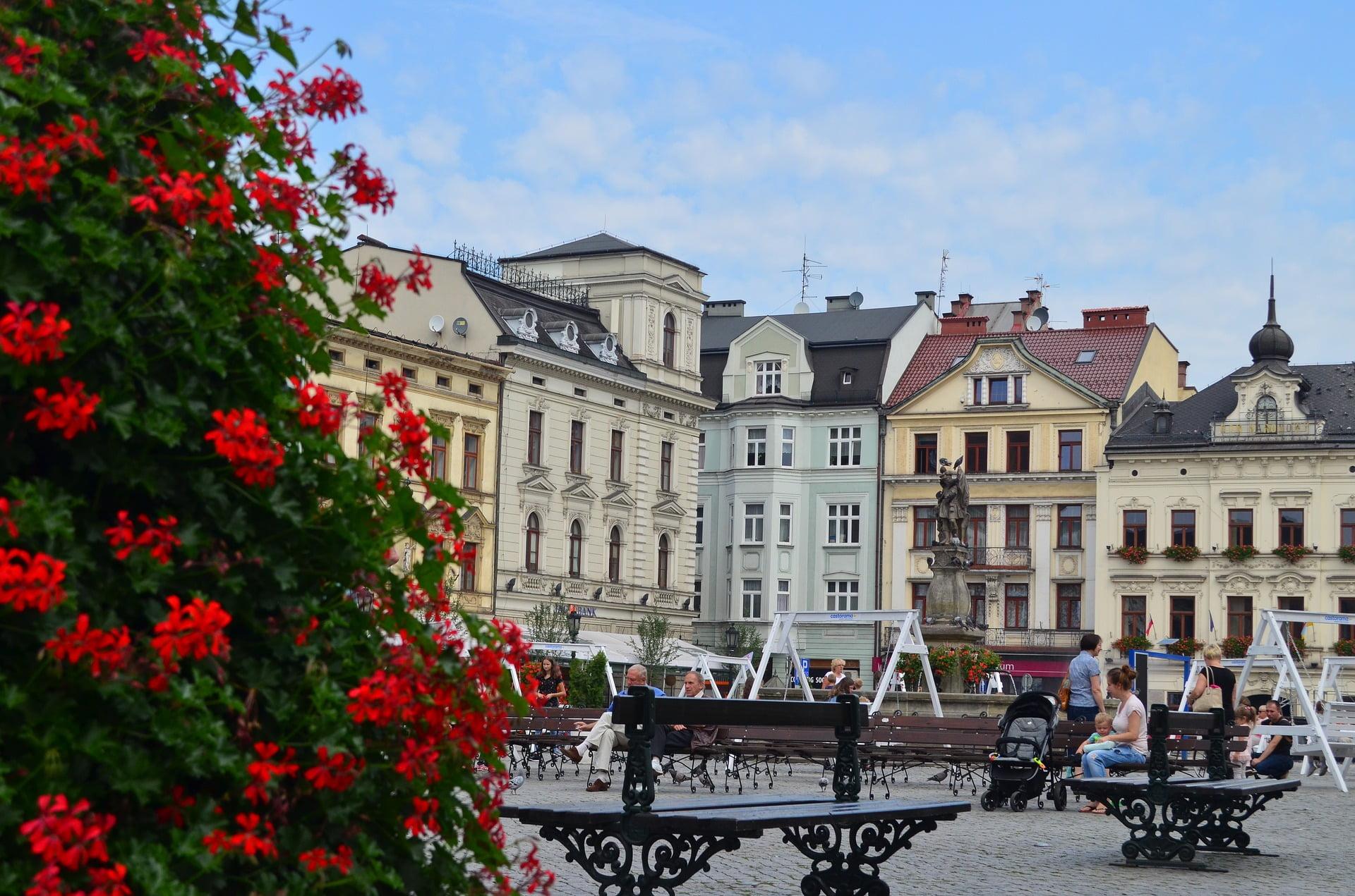 Kamieniczki na Rynku w Cieszynie