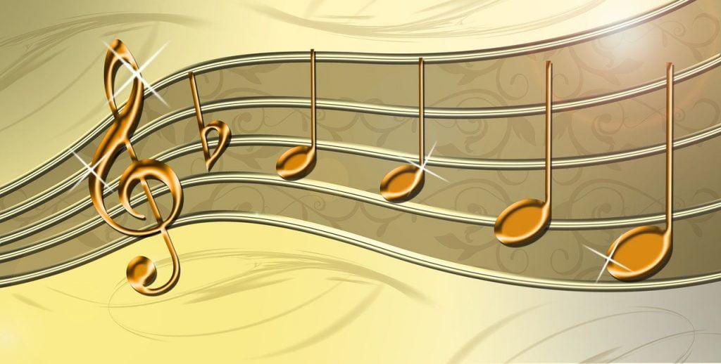 Pięciolinia, klucz wiolinowy, nuty